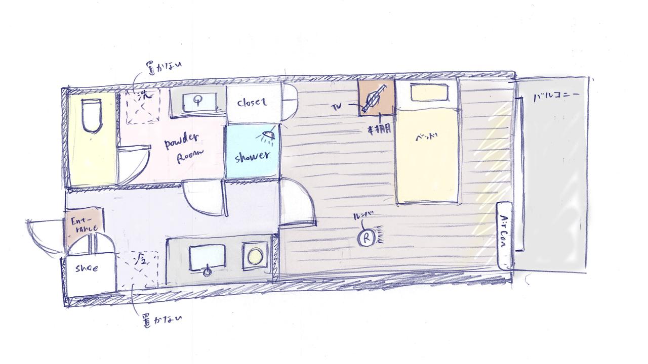 部屋の平面図