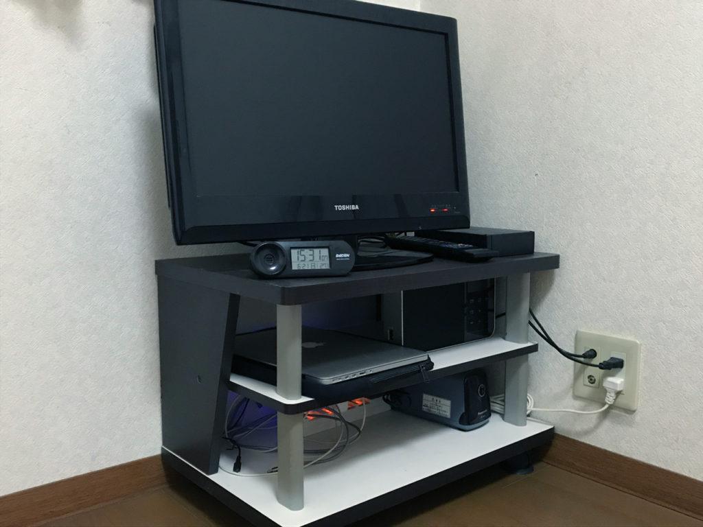 部屋レイアウト_テレビ周り